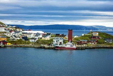 Honningsvag, Norway beyond the Arctic Circle.