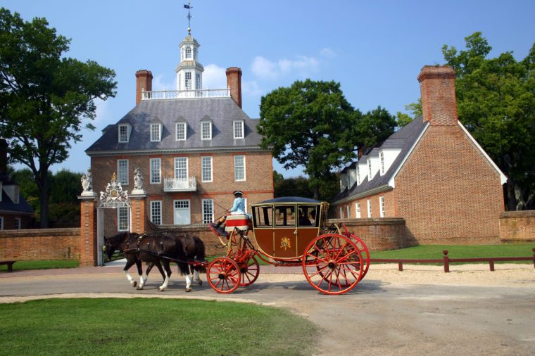 Governor's Mansion Colonial Williamsburg Carriage