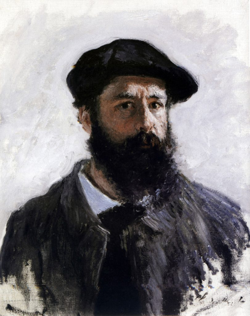 History Claude Monet (1840-1926) French Impressionist painter. Self-portrait in Beret 1886