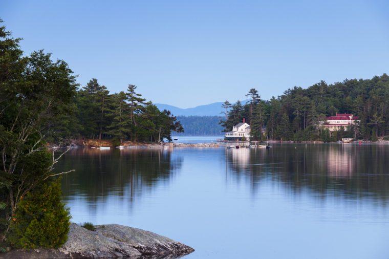 Seacoast village, Blue Hill, Maine, New England