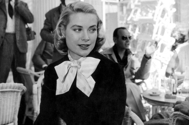 PRINCESS GRACE OF MONACO AT THE CARLTON HOTEL IN CANNES, FRANCE