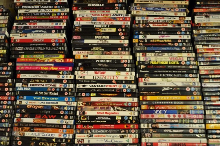 Various Stacks of DVDs