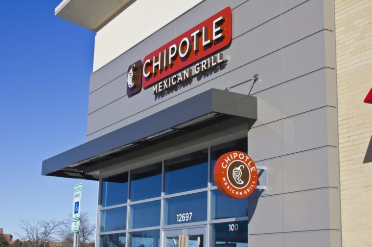Indianapolis - Circa February 2016: Chipotle Mexican Grill Restaurant. Chipotle is a Chain of Burrito Fast-Food Restaurants III