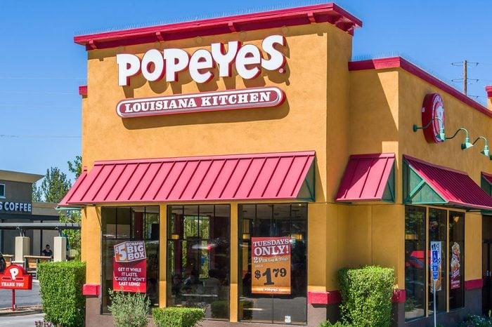 Popeyes Louisiana Kitchen exterior. Popeyes Louisiana Kitchen is an American chain of fried chicken fast food restaurants.