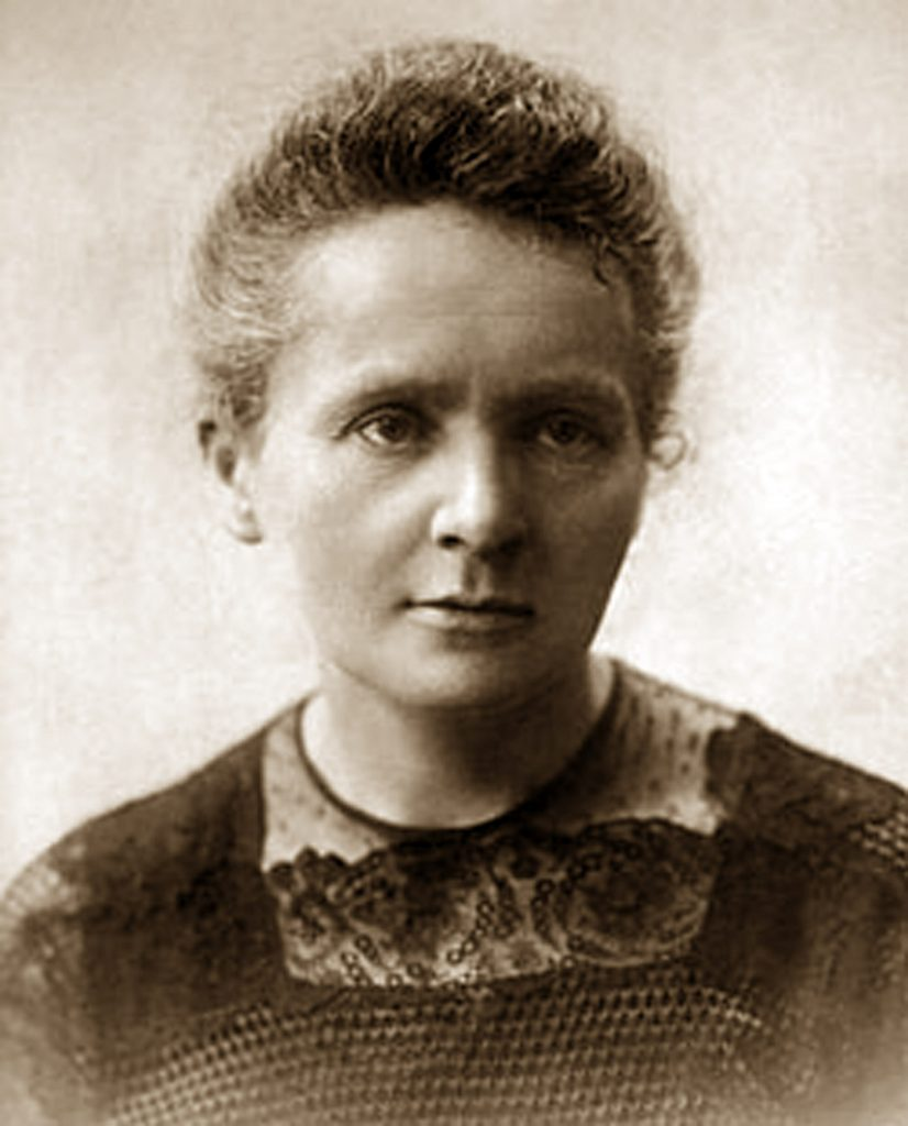 VARIOUS Photograph of Marie Sklodowska-Curie (1867-1934) a Polish and naturalized-French physicist, Nobel Prize winner and chemist who conducted pioneering research on radioactivity. Dated 1900