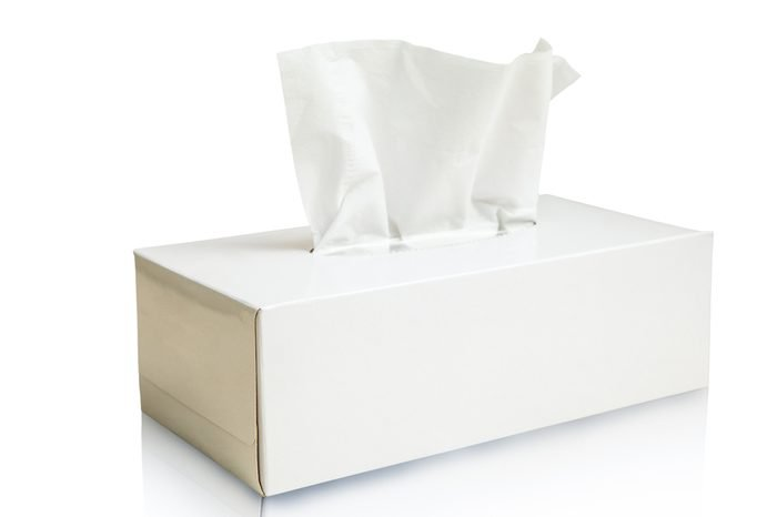 Tissue box mock up white tissue box blank label and no text for packaging