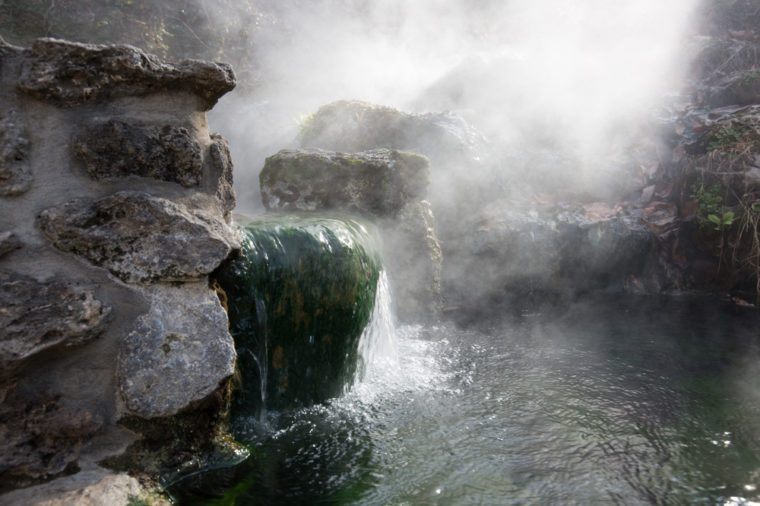 Mineral hot water in Hot Springs National Park in Arkansas