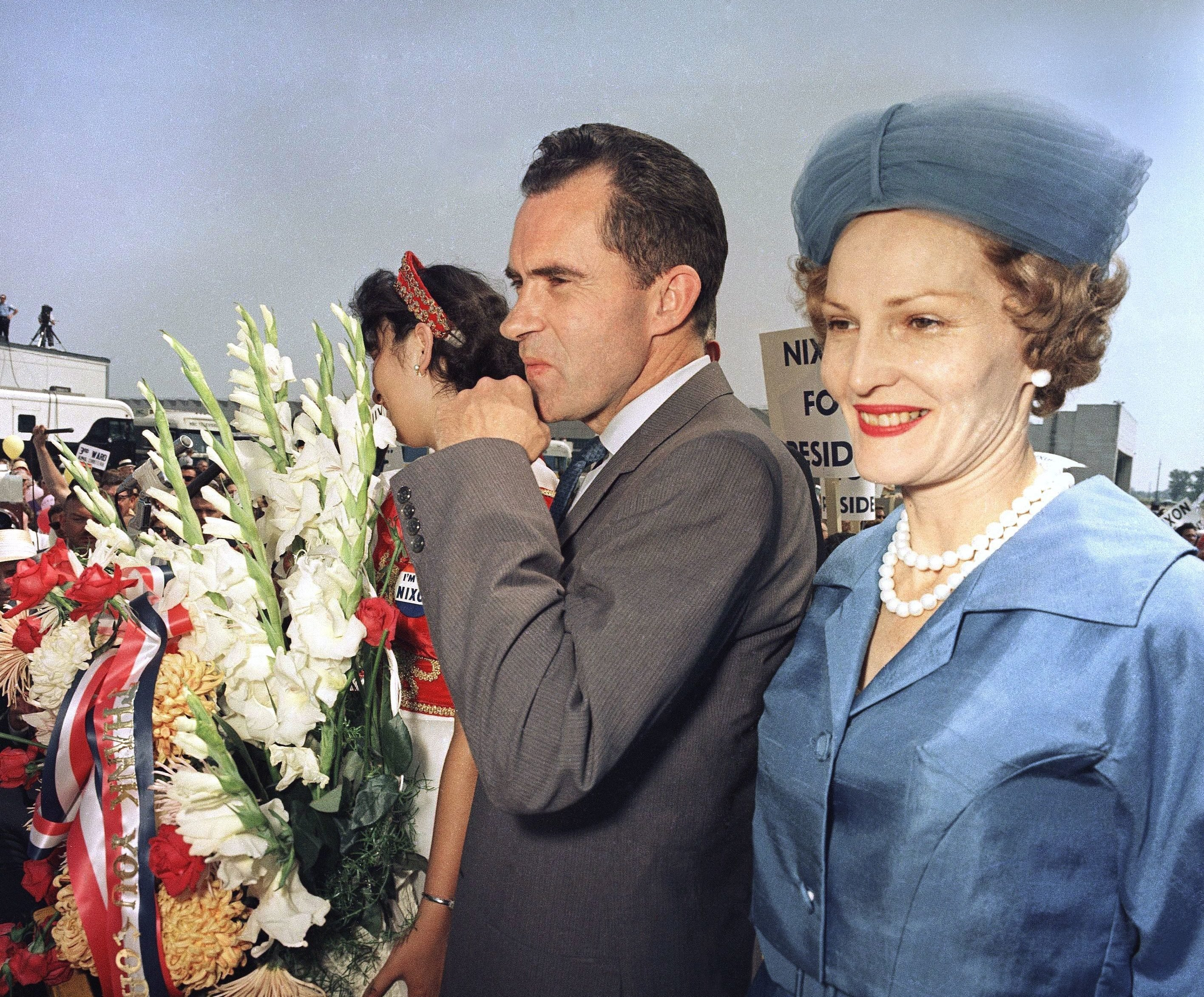 Richard Nixon and Pat Nixon, Chicago, USA