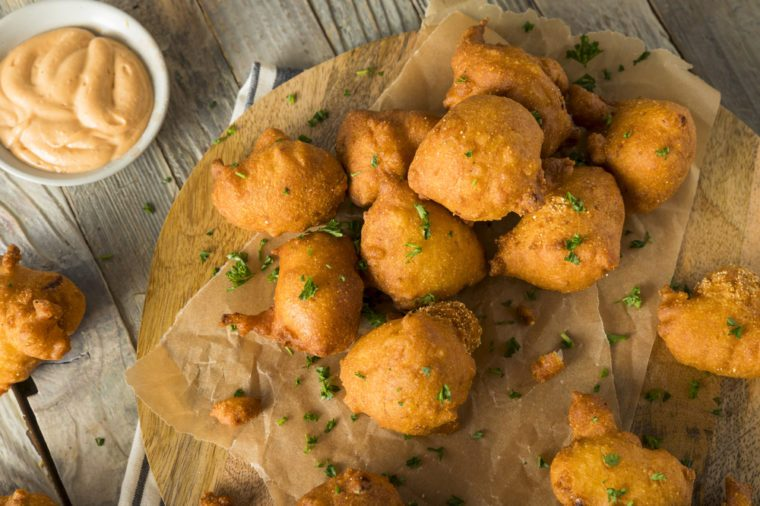 Homemade Deep Fried Hush Puppy Corn Fritters