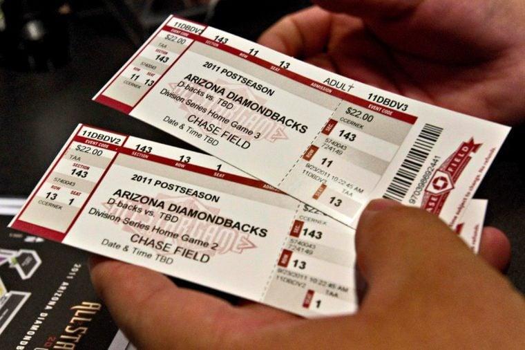 Diamondbacks Playoff Tickets, Phoenix, USA