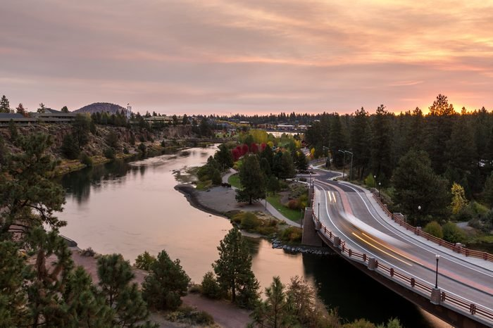 Bend Oregon Sunrise During Fall Morning
