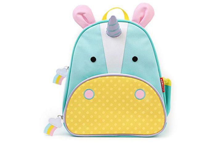 """Skip Hop Zoo Insulated Toddler Backpack Eureka Unicorn, 12"""" School Bag"""
