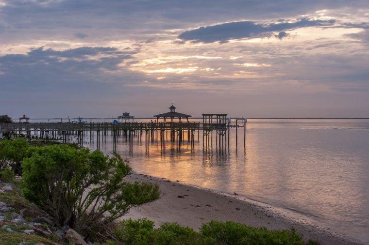 Sunrise at Southport, NC/ Southport Shoreline