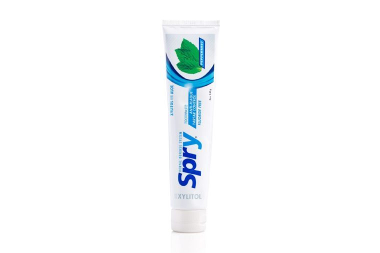 Spry Peppermint Xylitol Toothpaste, Flouride-Free