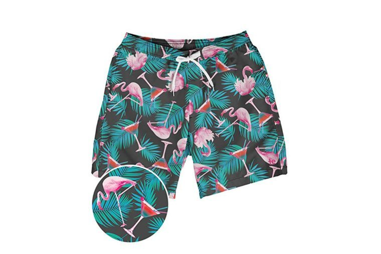 Tipsy Elves Bright Colored Men's Swim Suit Trunks - Vacation Surf Board Shorts for Spring Break
