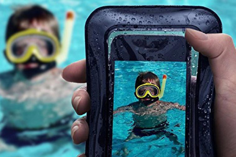 """Universal Waterproof Case, JOTO Cellphone Dry Bag Pouch for iPhone X, 8/7/7 Plus/6S/6/6S Plus, Samsung Galaxy S9/S9 Plus/S8/S8 Plus/Note 8 6 5 4, Google Pixel 2 HTC LG Sony MOTO up to 6.0"""" – Black"""