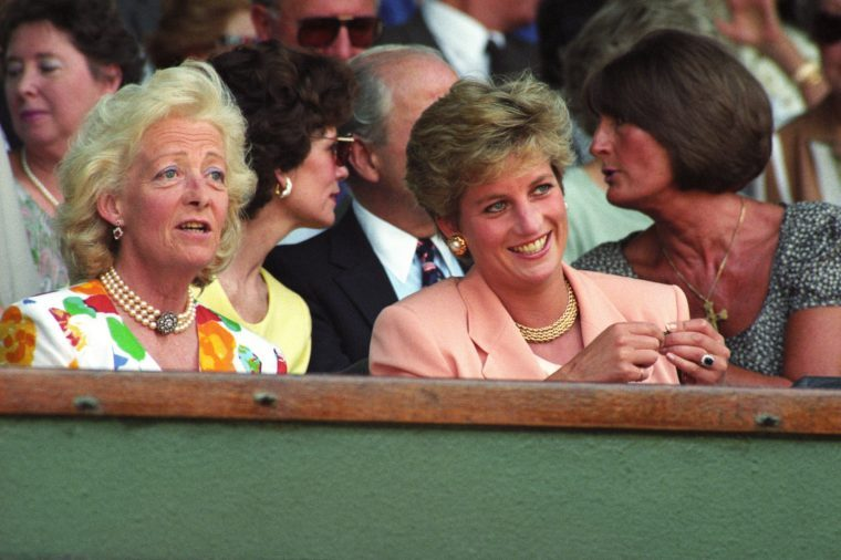 Various - 1993 Princess Diana at Wimbledon Tennis Championships with her mother Frances Shand Kydd