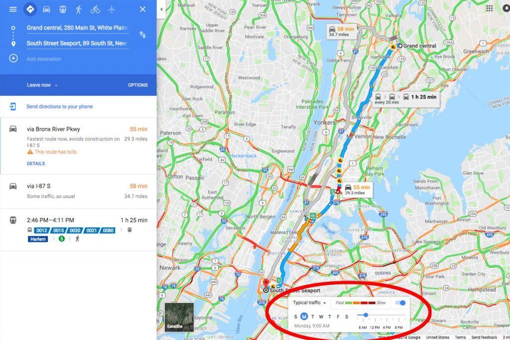 Min Dot Traffic Map.Hidden Google Map Tricks You Never Knew About Reader S Digest