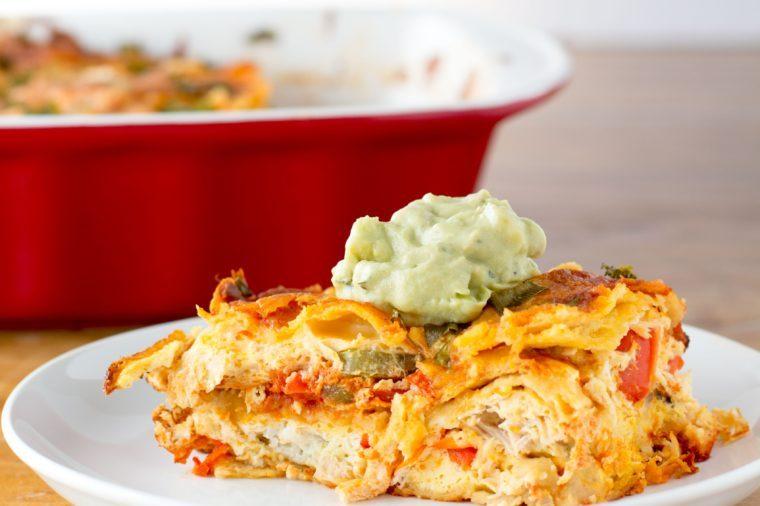 enchilada breakfast bake