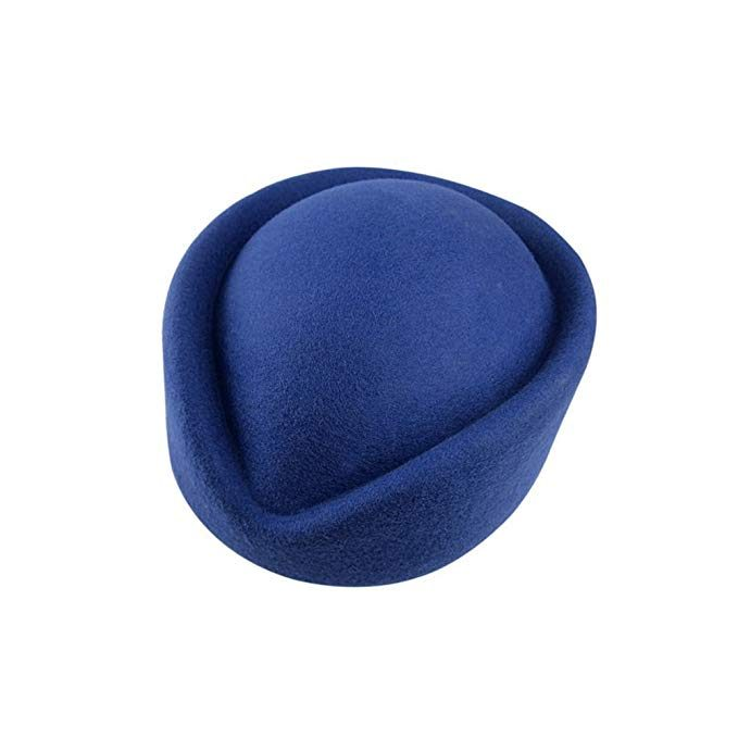 blue pillbox fascinator