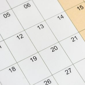 Calendar with numbers closeup. Mockup for design.