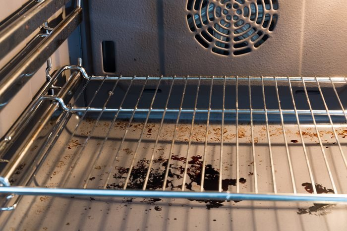 Dirty kitchen oven