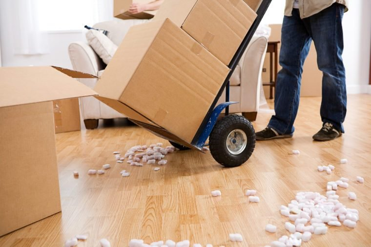Moving: Using A Handcart to Move Boxes