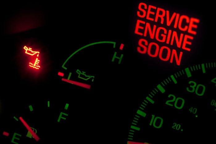 Service engine soon light on dashboard