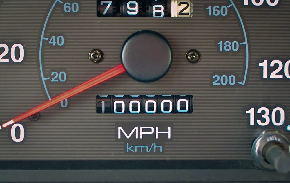 Odometer hits 100000 miles