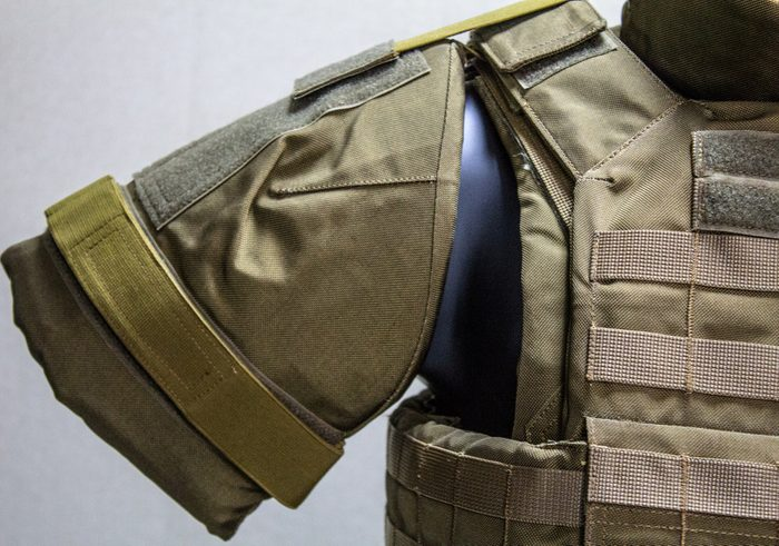 Bulletproof vest - military outfit closeup