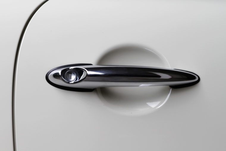 Doorknob of modern car