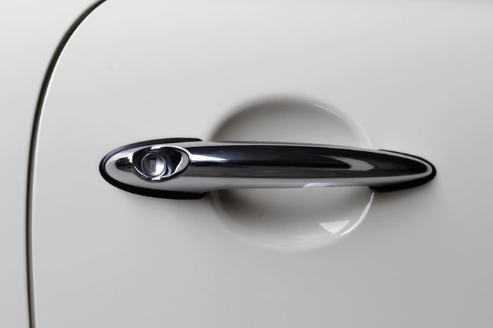 Doorknob of modern car