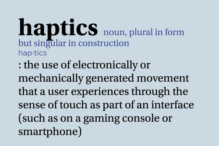 haptics definition