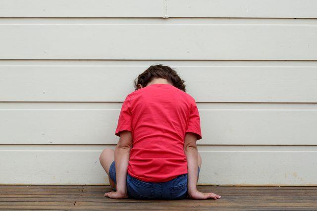 Child being punished.