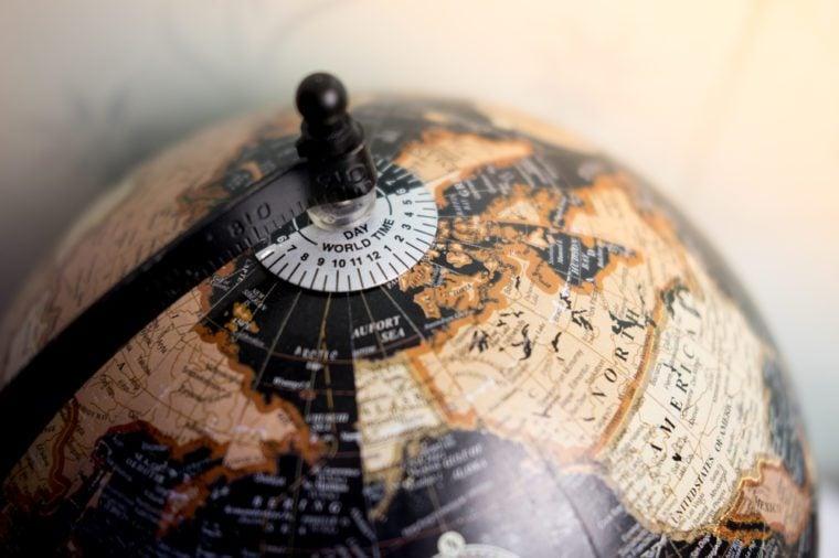 Global concept. globe education,vintage globe close up,