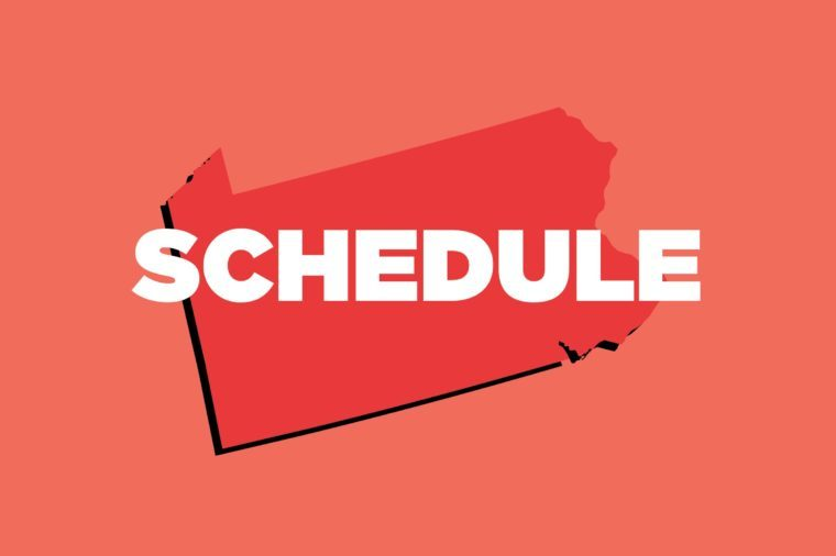 schedule pennsylvania
