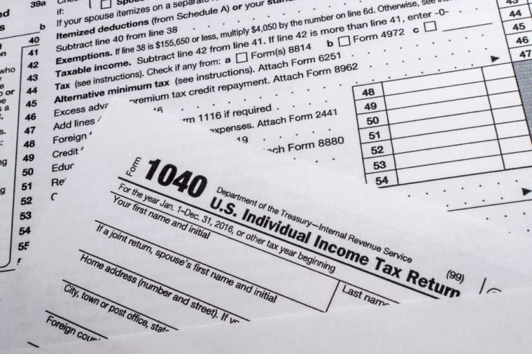 IRS Form 1040: US Individual Income Tax Return