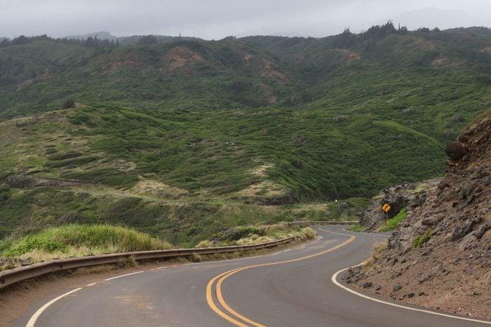 Typical landscape along the Kahekili Highway, North Maui, Hawaii
