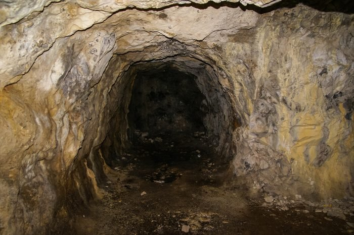 Cave at Embalse de Pena, Aragon, Spain