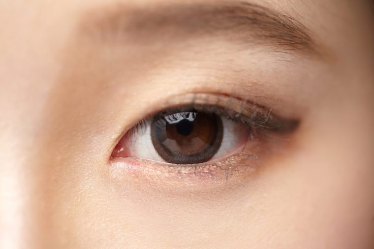 Asian woman eyes close-up