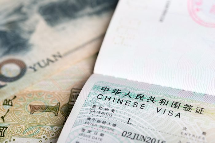 Chiense Visa for travel in China.
