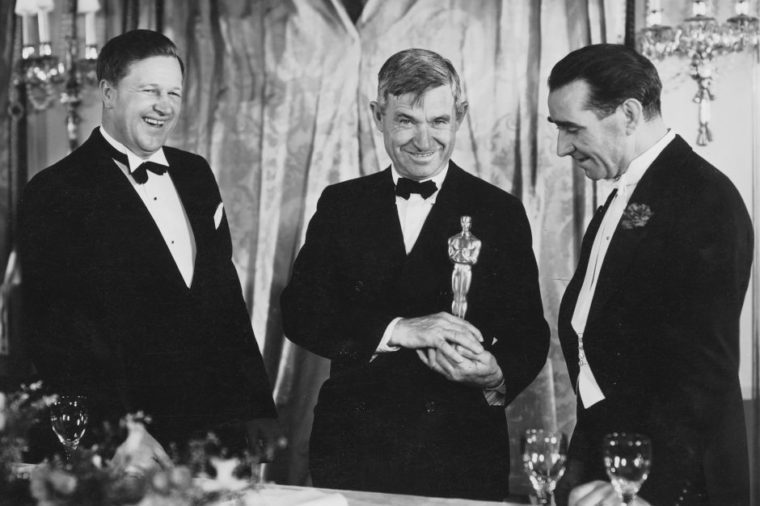 FRANKLIN HANSEN, WILL ROGERS, AND FRANK LLOYD At the 6th Academy Awards ceremony