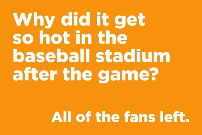 Why did it get so hot in the baseball stadium after the game?