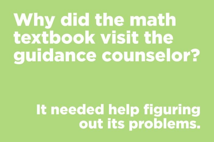 Why did the math textbook visit the guidance counselor?