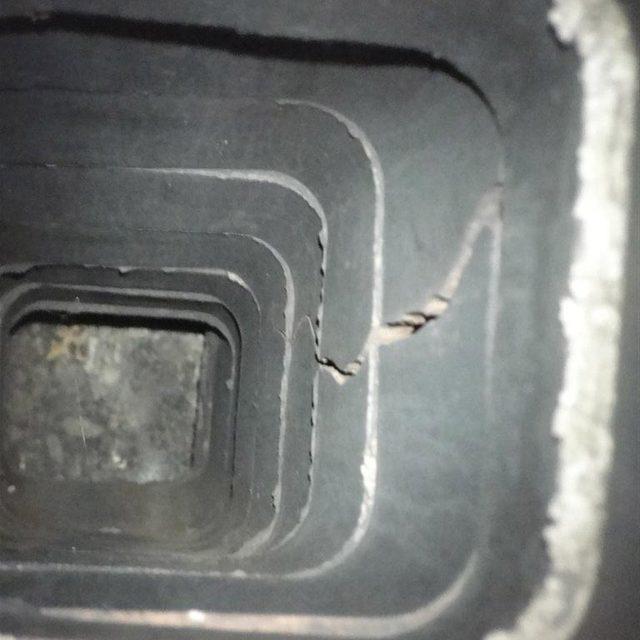 cracked chimney liner