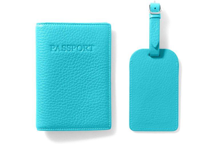 leather luggage tag set amazon prime gift set