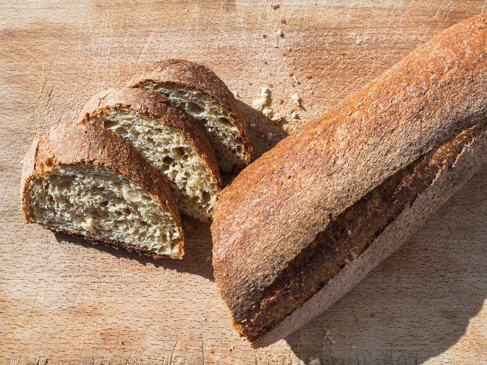 travel to Italy, italian cuisine - local sicilian baguette bread in Sicily