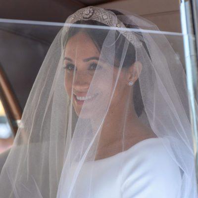 Meghan Markle wedding day veil