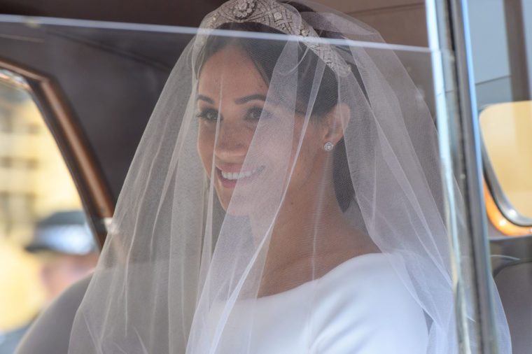 Meghan Markle wedding day veil