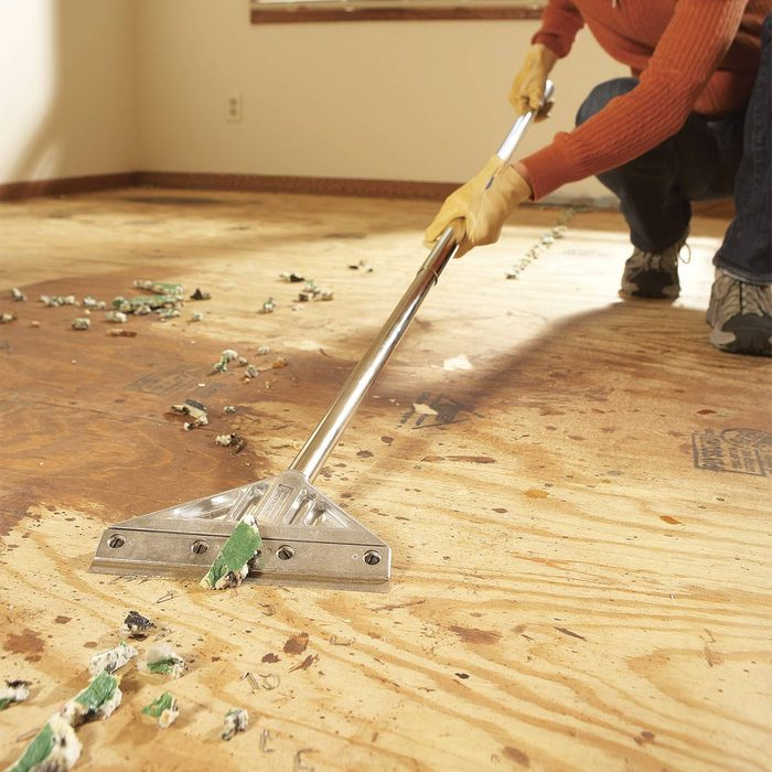 removing carpet inside home
